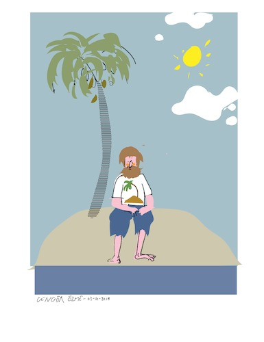 Cartoon: Coconut Tree (medium) by gungor tagged adventure