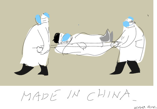 Cartoon: Coronavirus (medium) by gungor tagged china,china