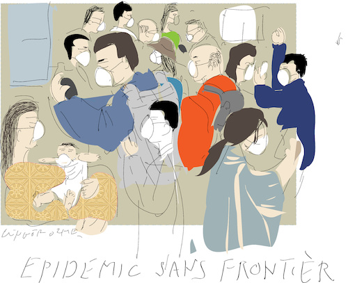 Cartoon: Epidemic sans Frontier (medium) by gungor tagged china,china