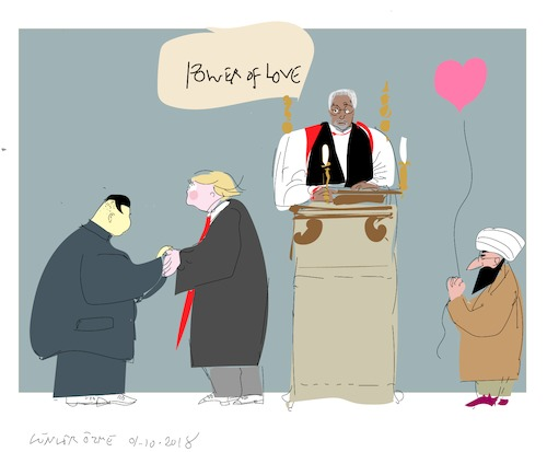 Cartoon: Power of Love (medium) by gungor tagged usa