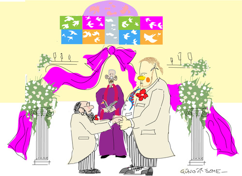 Cartoon: TYing the Knot (medium) by gungor tagged usa
