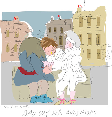 Cartoon: Worst day for Quasimodo (medium) by gungor tagged france,france