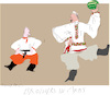 Cartoon: Brothers in Arms (small) by gungor tagged belarus
