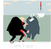 Cartoon: Confrontation (small) by gungor tagged usa