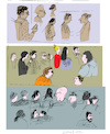 Cartoon: Faces 15 (small) by gungor tagged australia