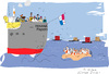 Cartoon: Ship (small) by gungor tagged panama