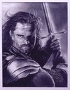 Cartoon: Aragorn Black-White pastel (small) by DIMITRIS EMM tagged aragorn black white portrait pastel kos dimitris emm