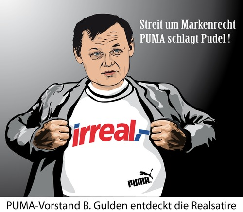 Cartoon: Puma Markenrecht (medium) by ESchröder tagged puma,markenrecht,pudel,tshirt,logo,bgh,bundesgerichtshof,urteil,parodie,eigentumsrecht,vorstandsvorsitzender,björn,gulden,realkauf,konzernkommerz