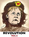 Cartoon: Che - Merkel 2 (small) by ESchröder tagged merkel,atom,energie,wende
