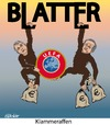 Cartoon: Klammeraffen (small) by ESchröder tagged fifa,fußballfunktionäre,uefa,platini,niersbach,bestechungsgelder,provisionen,josef,blatter,korruption,wiederwahl,geldwäsche,new,york,times