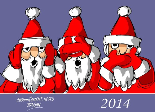 Cartoon: 2014 (medium) by Dragan tagged 2014