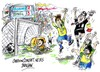 Cartoon: Brasil-3-Honduras-2 (small) by Dragan tagged brasil,honduras,futbol,juegos,olimpicos,de,londres,deporte,cartoon