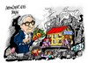 Cartoon: Frank-Walter Steinmeier-Gaza (small) by Dragan tagged frank,walter,steinmeier,gaza,alemania,palestina,politics,cartoon