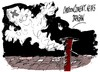 Cartoon: Fumata blanca en San Pedro (small) by Dragan tagged fumata,blanca,san,pedro,vaticano,papa,cartoon