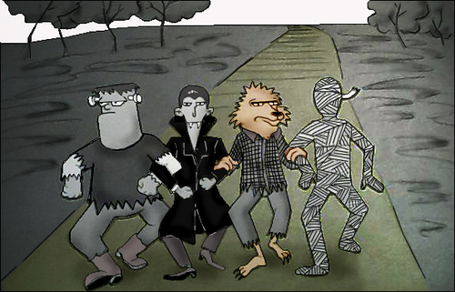 Cartoon: Going to the Wizard of Oz.. (medium) by berk-olgun tagged wizard,of,oz