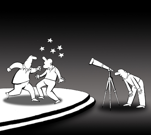 Cartoon: Telescope... (medium) by berk-olgun tagged telescope