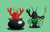Cartoon: Black Lobster... (small) by berk-olgun tagged black,lobster