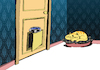 Cartoon: Dog Door... (small) by berk-olgun tagged dog,door
