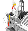 Cartoon: Escher Castle... (small) by berk-olgun tagged escher,castle