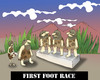 Cartoon: First Foot Race... (small) by berk-olgun tagged first,foot,race