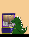 Cartoon: Godzilla Game... (small) by berk-olgun tagged godzilla,game