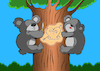 Cartoon: Koala in Love... (small) by berk-olgun tagged koala,in,love