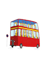 Cartoon: London Bus... (small) by berk-olgun tagged london,bus