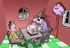 Cartoon: Macho magician.. (small) by berk-olgun tagged macho magician