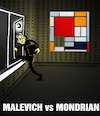 Cartoon: Malevich vs Mondrian... (small) by berk-olgun tagged malevich,vs,mondrian