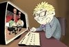 Cartoon: Nerd... (small) by berk-olgun tagged nerd
