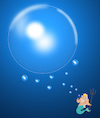 Cartoon: Poseidon Bubble.. (small) by berk-olgun tagged poseidon,bubble