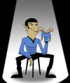 Cartoon: Spock The Ventriloquist.. (small) by berk-olgun tagged mr,spock