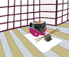 Cartoon: Sushi... (small) by berk-olgun tagged harakiri