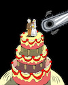 Cartoon: Wedding Cake... (small) by berk-olgun tagged wedding,cake
