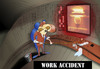 Cartoon: Work Accident... (small) by berk-olgun tagged work,accident