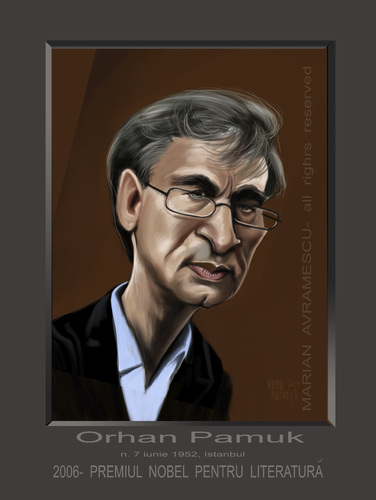 Cartoon: ORHAN PAMUK (medium) by Marian Avramescu tagged mmmmmmmmmmm