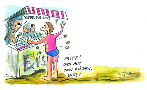 Cartoon: Sonnenbrand (medium) by Stefan Roth tagged eisstand,sonnencreme,sommer,eis,sonnenbrand