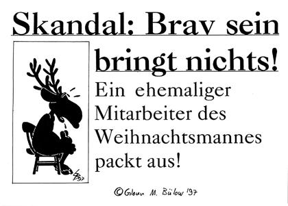 Cartoon: Bravsein (medium) by Glenn M Bülow tagged weihnachten,christmas,santa,claus,xmas,rentier,rudolph,knecht,ruprecht