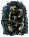 Cartoon: portrait django rheinhardt (small) by jenapaul tagged django,rheinhardt,jazz,guitarist,music,guitar