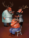 Cartoon: no title (small) by Wiejacki tagged doctor,horn,deer,falseness,medicine