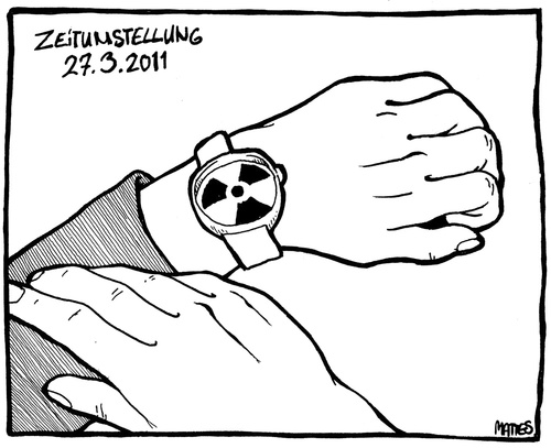 Cartoon: Zeitumstellung 27.3.2011 (medium) by derMattes tagged zeitumstellung