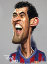 Cartoon: Sergie Busquets FC Barcelona (small) by Tonio tagged football,soccer