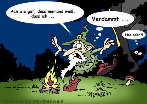 Cartoon: Alzheimer im Märchenwald (medium) by svenner tagged cartoon,comic