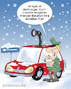 Cartoon: Cartoon Scheibenkratzen (small) by svenner tagged winter,kfz,auto,scheibenkratzen,frost
