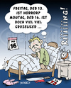 Cartoon: Freitag der 13. (small) by svenner tagged freitag13,horror