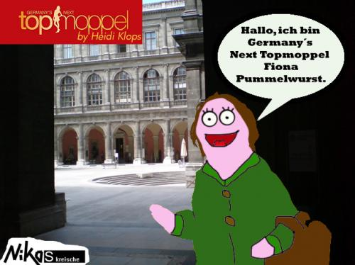 Cartoon: Germanys Next Topmopel (medium) by Nk tagged model,germanys,topmodel,fat,fett,mode,heidi,klum,fashion