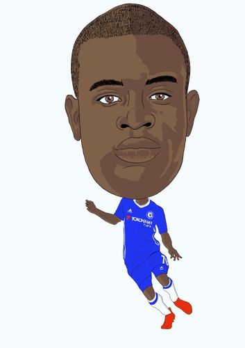 Cartoon: Kante Chelsea (medium) by Vandersart tagged chelsea,cartoons,caricatures