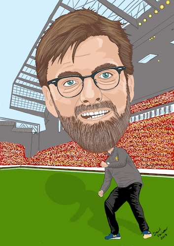Cartoon: Klopp Liverpool (medium) by Vandersart tagged liverpool,cartoon,caricature