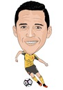 Cartoon: Sanchez Arsenal 2 (small) by Vandersart tagged arsenal,cartoons,caricatures