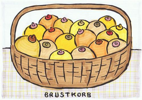 Cartoon: brustkorb (medium) by meikel neid tagged brust,busen,brustkorb,korb